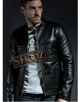 Vintage Cafe Racer Slim Fit Leather Jacket