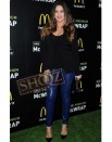 Women Khloe Kardashian Blue Leather Pant