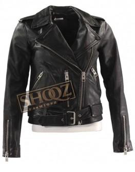 Death Wish Camila Morrone Black Leather Jacket