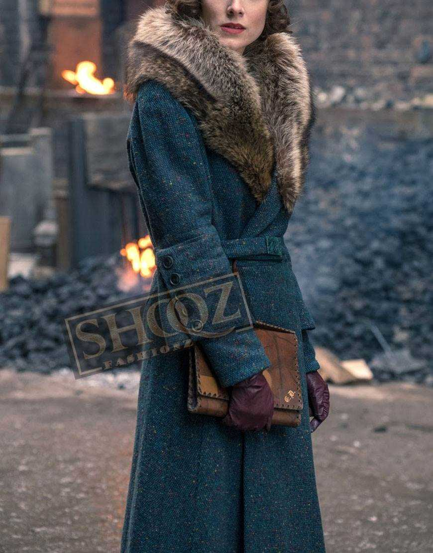 Peaky Blinders Season 5 Sophie Rundle Fur Collar Coat
