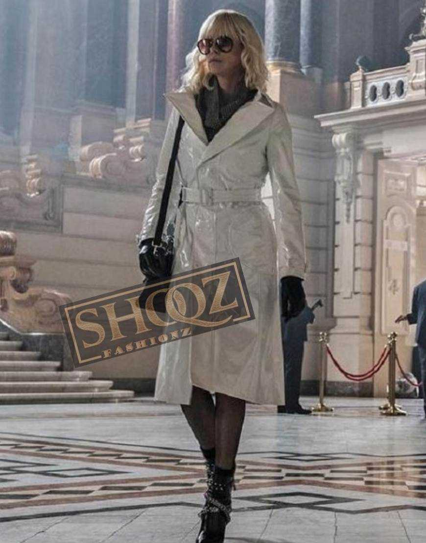 Atomic Blonde Charlize Theron Leather Coat