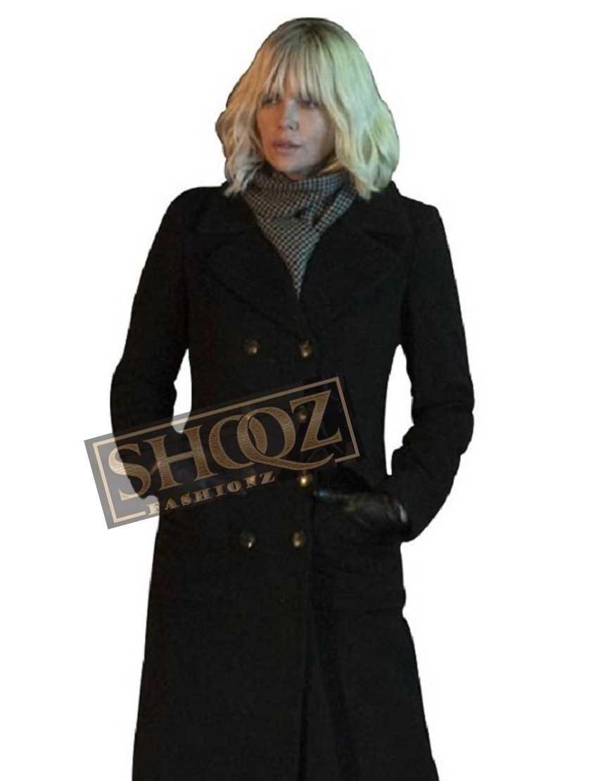 Atomic Blonde Charlize Theron Wool Coat