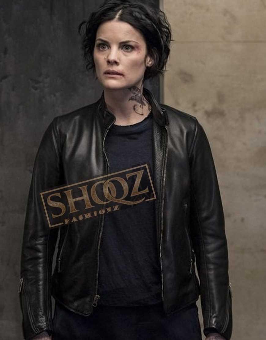 Blindspot Jaimie Alexander Black Leather Jacket