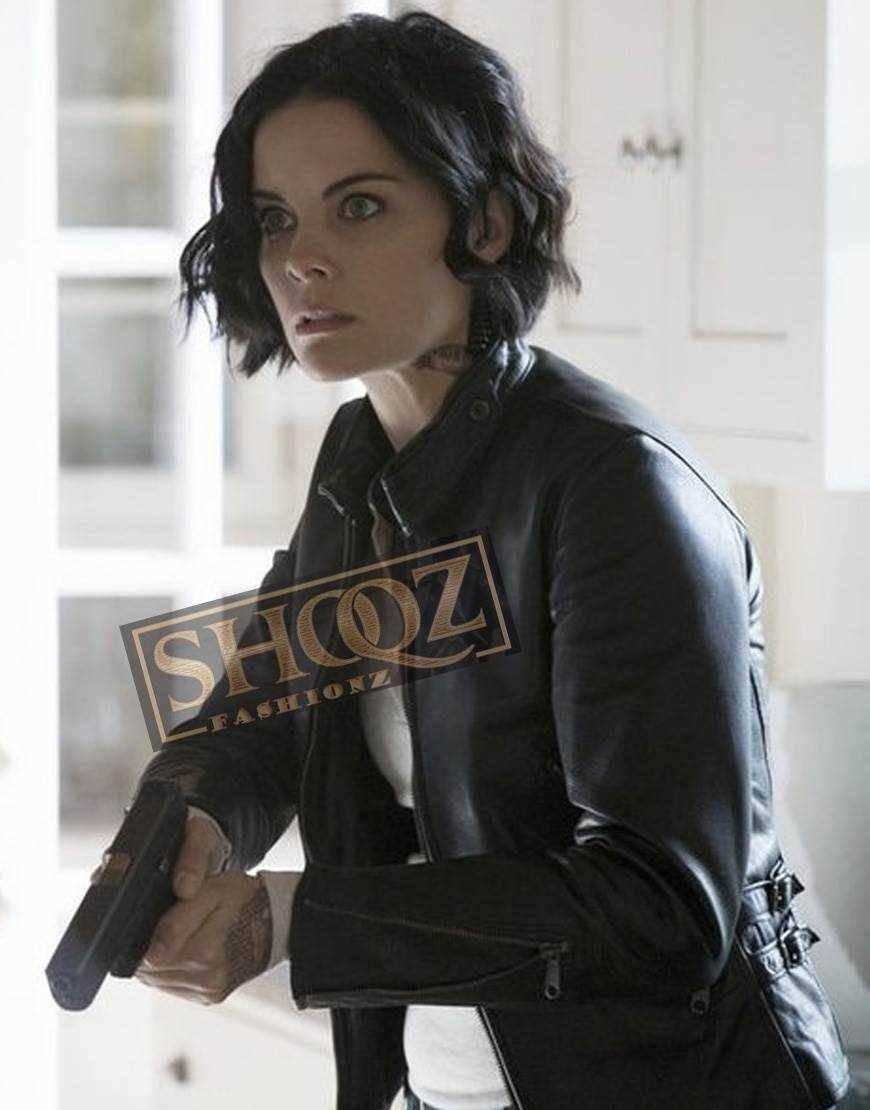 Blindspot Jaimie Alexander Black Leather Jacket
