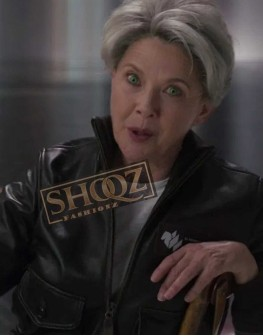 Captain Marvel Annette Bening Leather Jacket