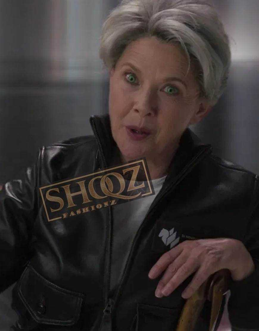Captain Marvel Annette Bening Leather Jacket