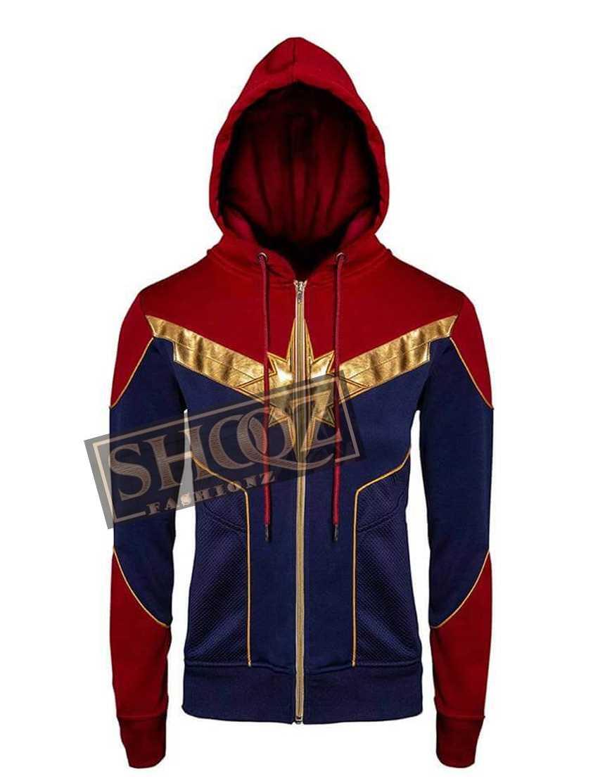 Captain Marvel Brie Larson Hoodie Jacket