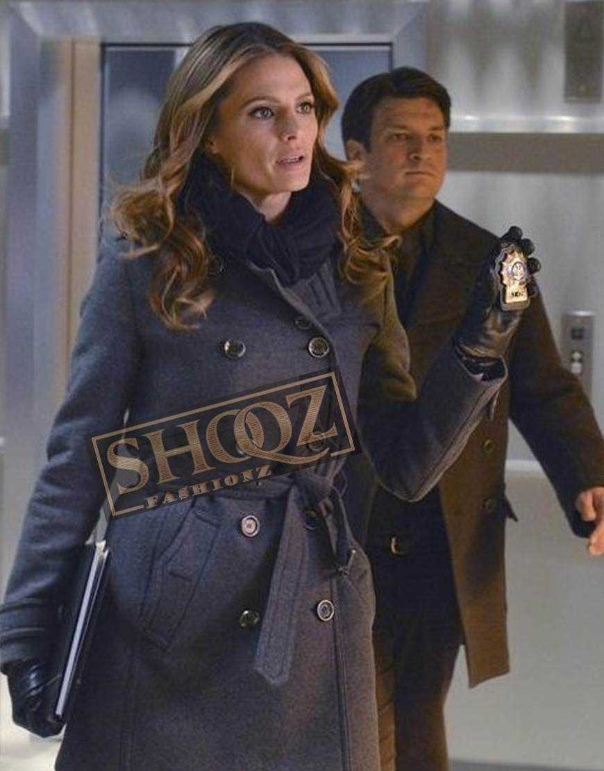 Castle Stana Katic Wool Coat