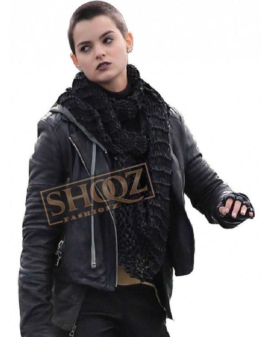 Deadpool Brianna Hildebrand Leather Jacket