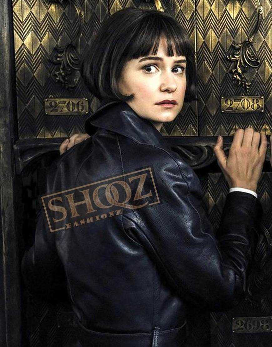 Fantastic Beasts The Crimes of Grindelwald Katherine Waterston Leather Coat