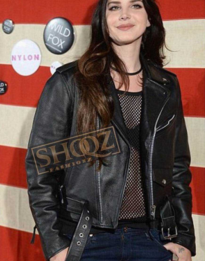 Lana Del Rey Biker Leather Black Jacket