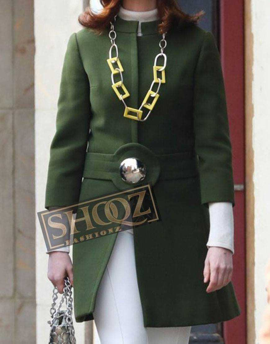 Modern Love Anne Hathaway Green Trench Coat