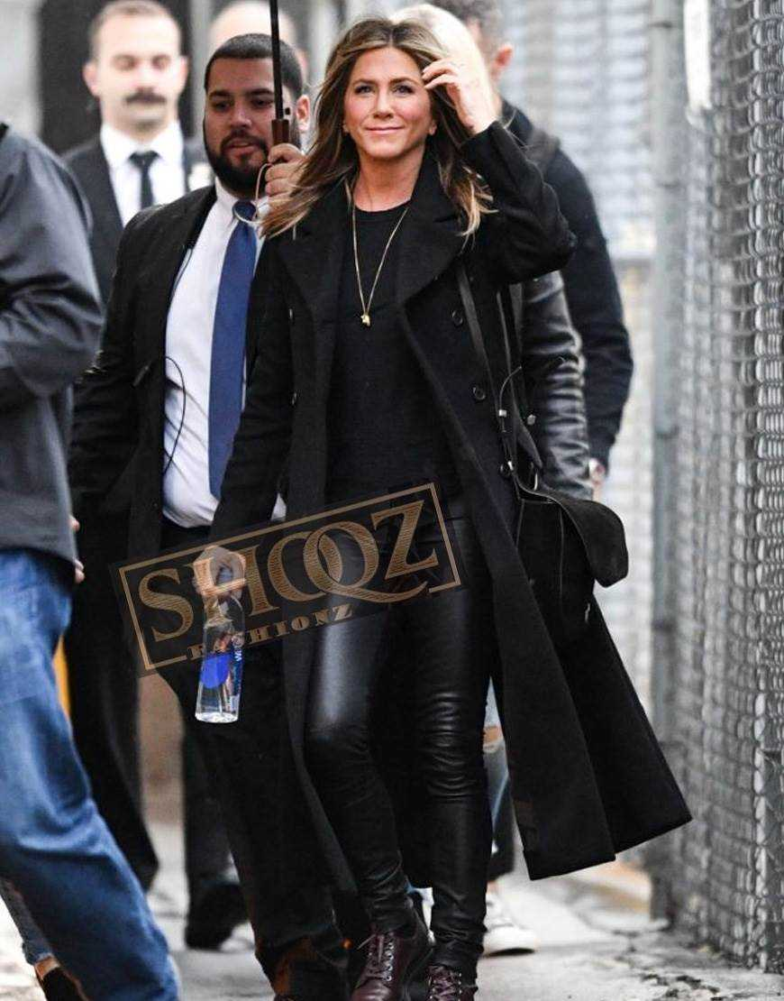 Murder Mystery Jennifer Aniston Wool Coat