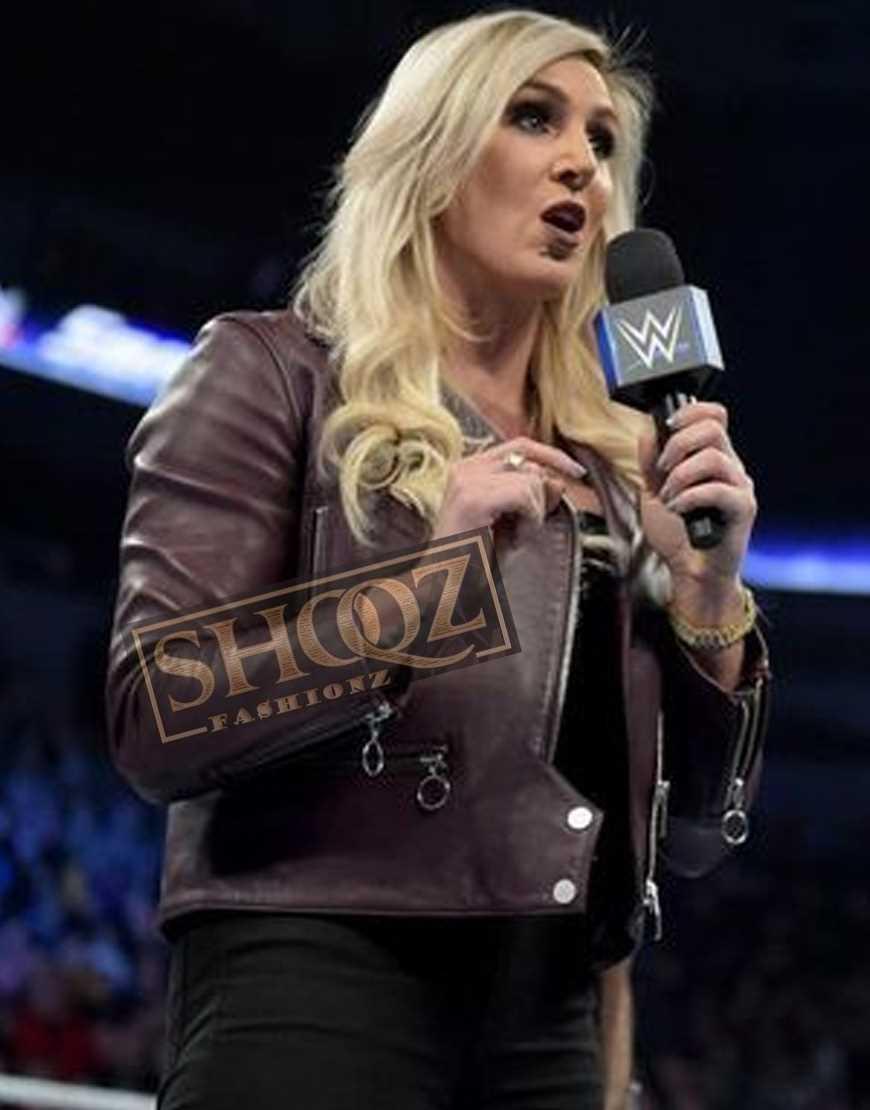 WWE Charlotte Flair Leather Jacket