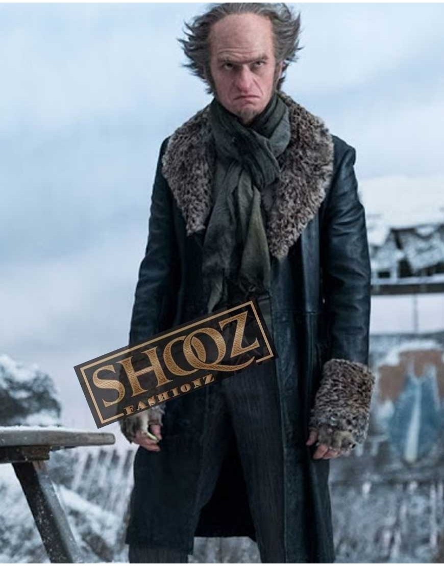 A Series of Unfortunate Events Count Olaf (Neil Patrick Harris) Leather Coat With Fur Collar