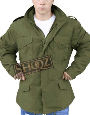 30 Minutes Or Less Nick (Jesse Eisenberg) Green Cotton Jacket