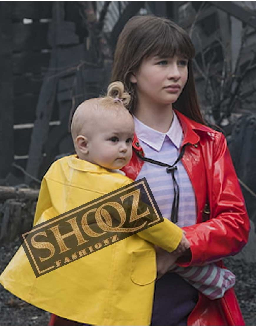A Series Of Unfortunate Events Violet Baudelaire (Malina Weissman) Red Raincoat Jacket