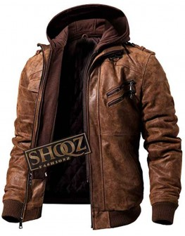 Men's Flavor Brown Leather Jacket