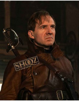 The King's Man 3 Ralph Fiennes Leather Coat