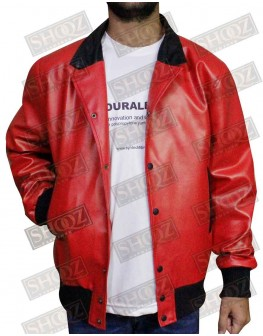 Nick Jonas Red Bomber Jacket