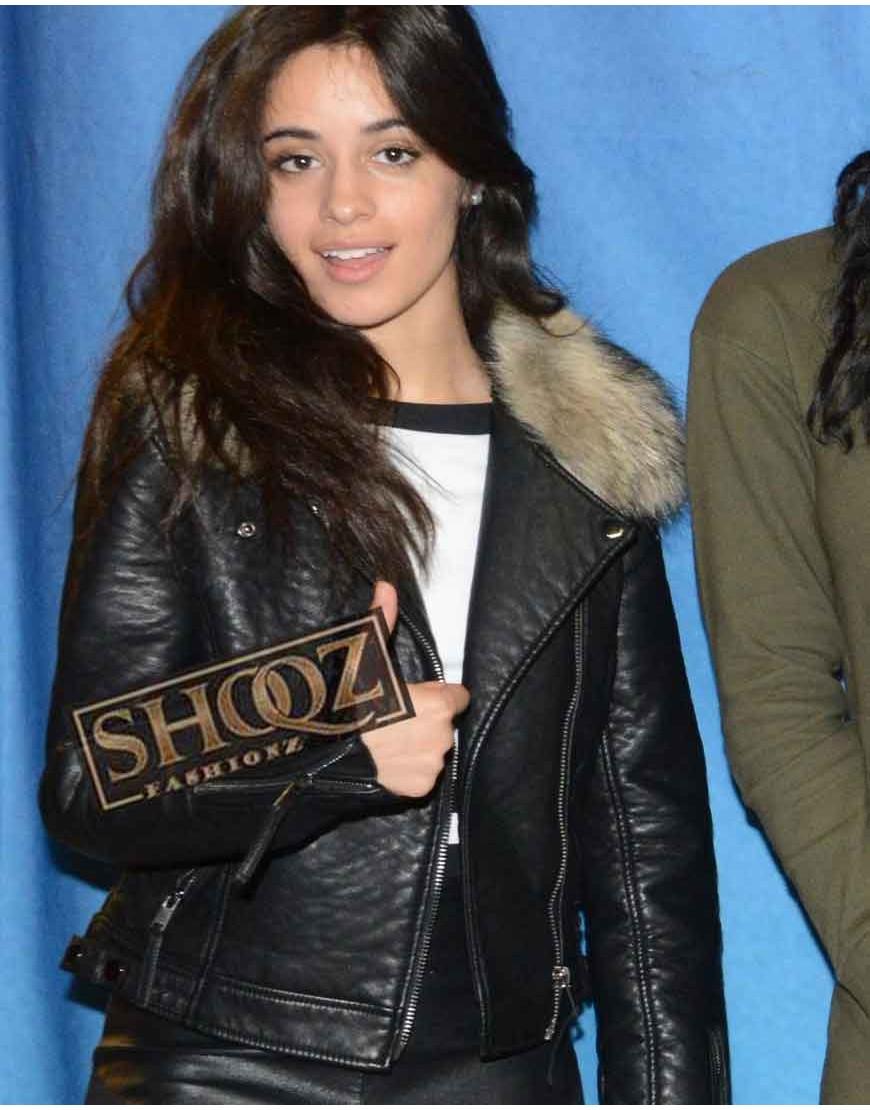 Camila Cabello Black Leather Jacket