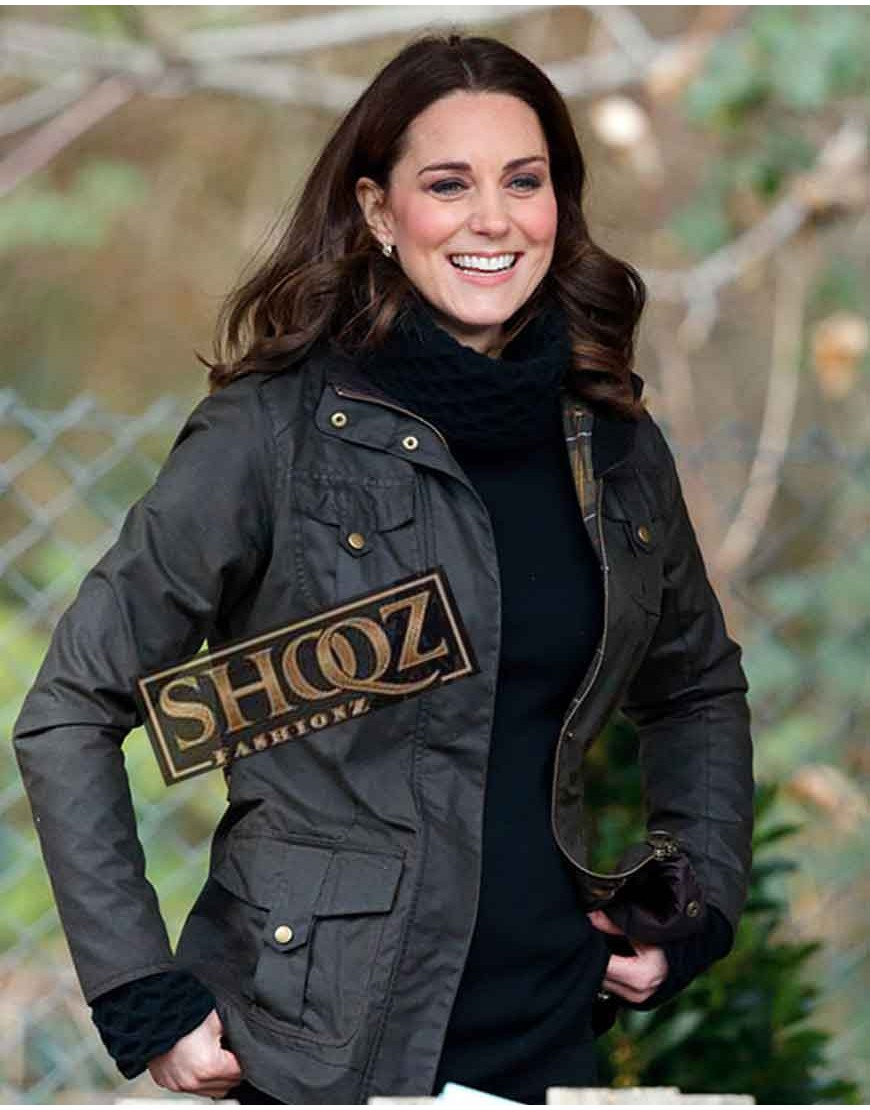Kate Middleton Casual Wear Leather Jacket