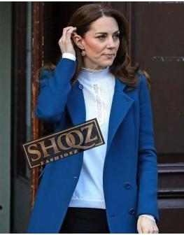Kate Middleton Royal Blue Trench Coat