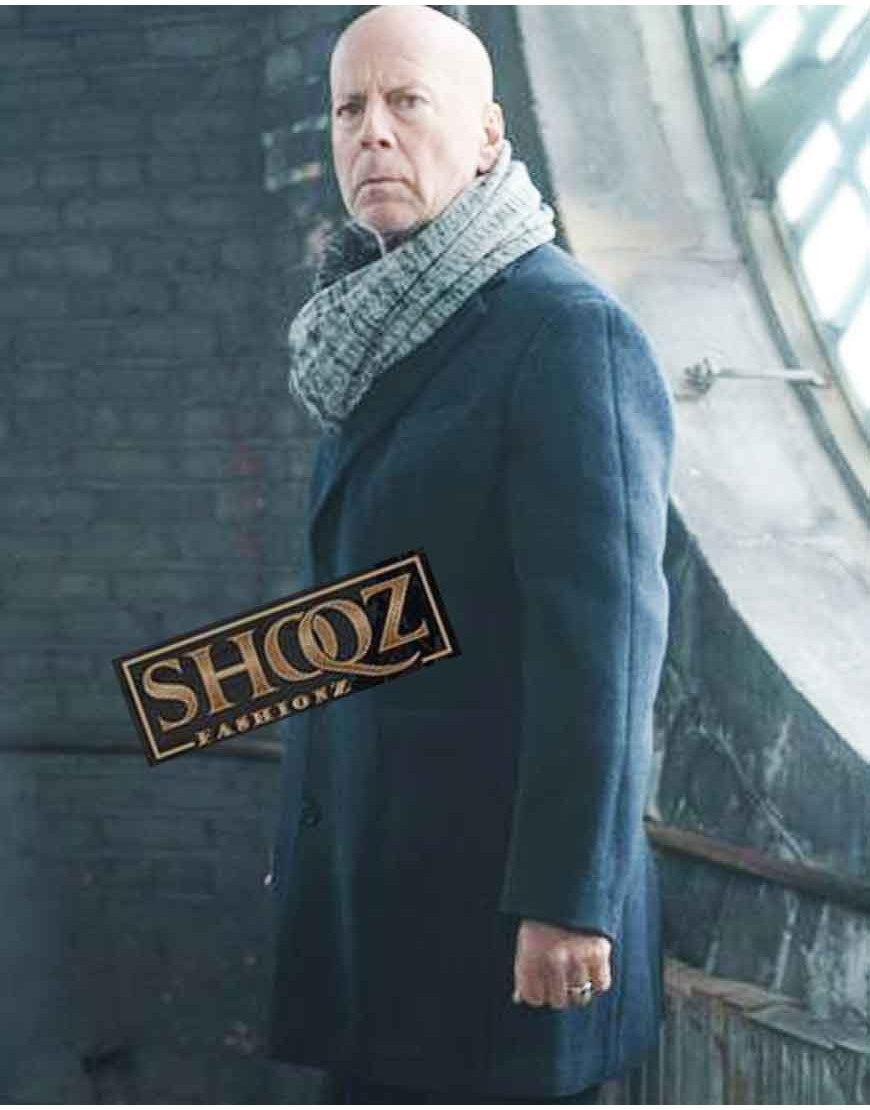 Bruce Willis Hard Kill Donovan Chamlers Wool Coat