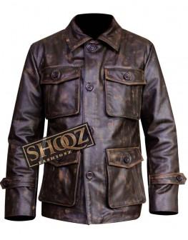 Men's 4 Pocket Distressed Leather Jacket
