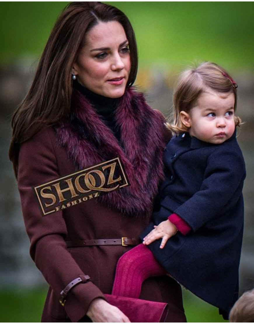 Kate Middleton Dark Brown Trench Coat
