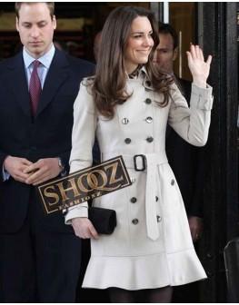 Kate Middleton Maroon Trench Coat