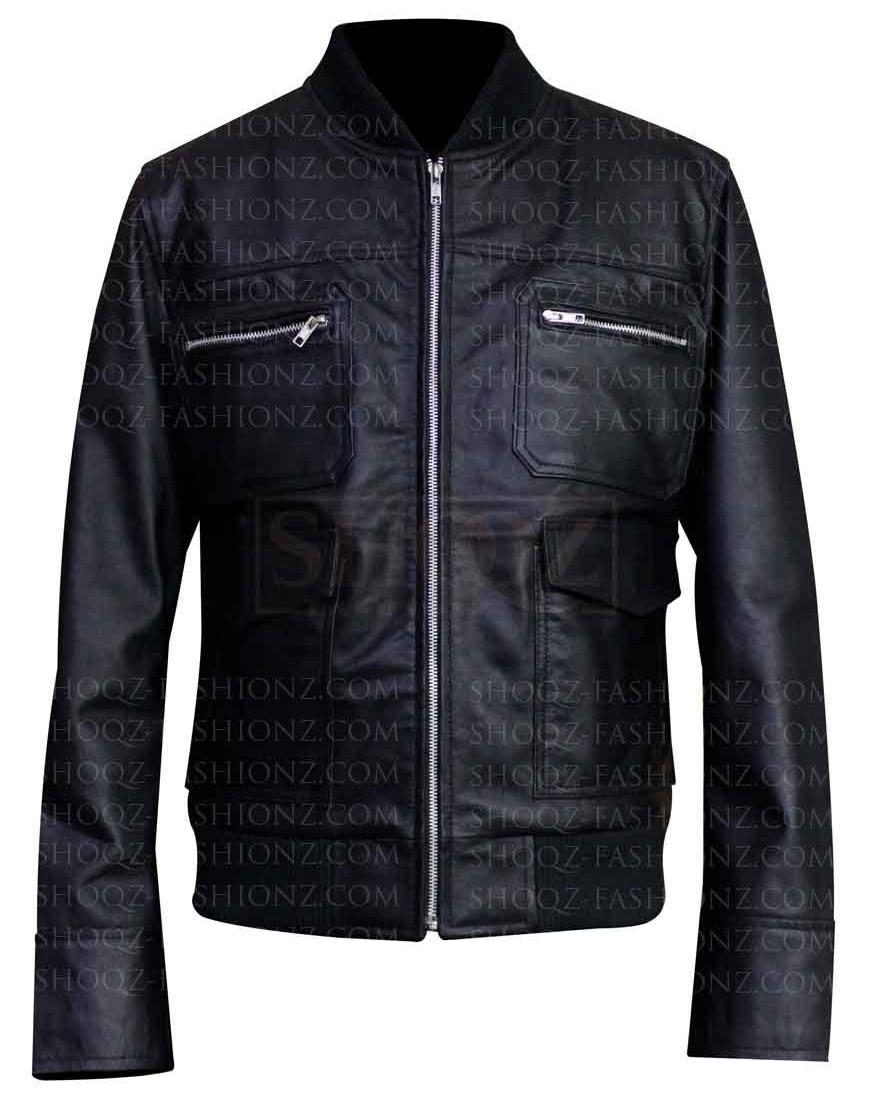 Dwayne Johnson The Other Guys Black Leather Jacket