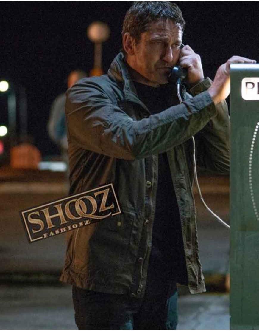 Angel Has Fallen Gerard Butler Brown Jacket