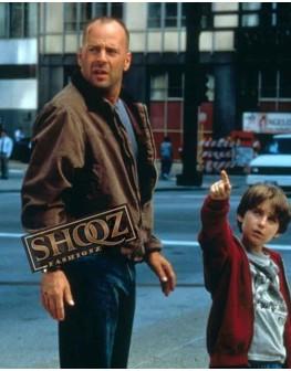 Mercury Rising Bruce Willis (Art Jeffries) Brown Jacket