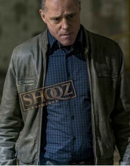 Chicago PD Jason Beghe Distressed Leather Jacket