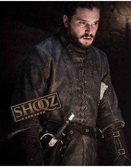 Game of Thrones Jon Snow Costume Leather Coat