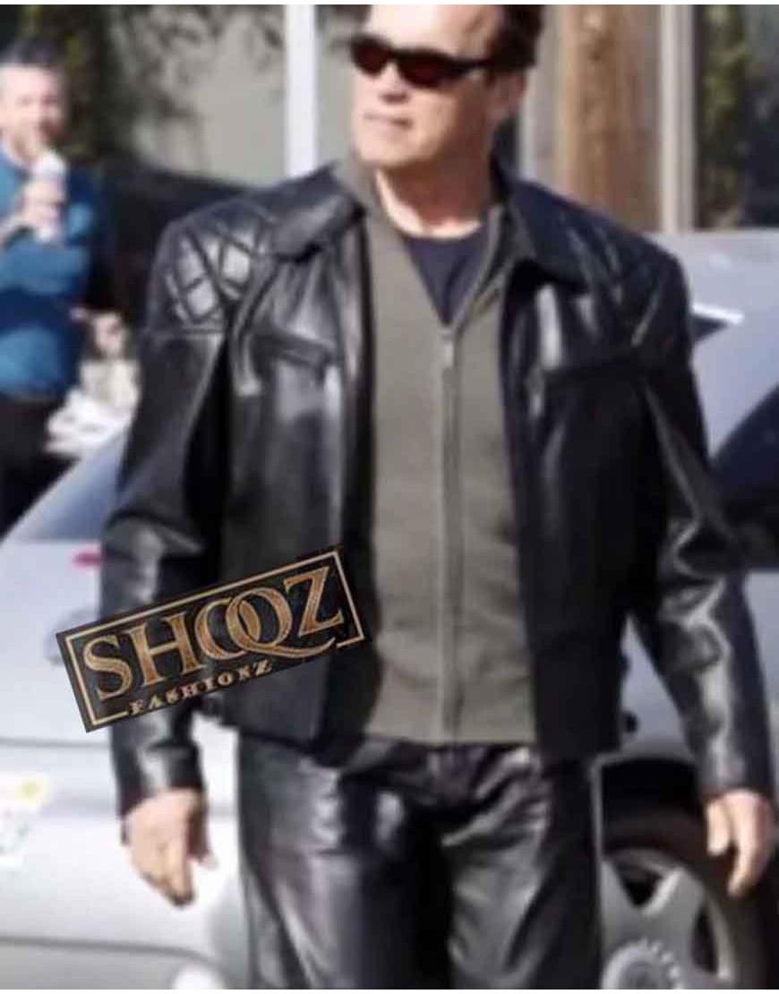 Terminator 5 Arnold Schwarzenegger Black Jacket