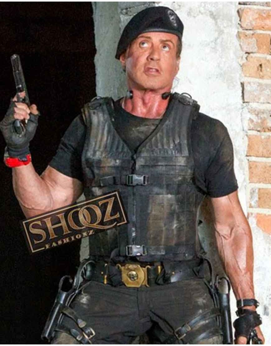 The Expendables Sylvester Stallone Barney Ross Vest