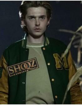 Scary Stories Austin Abrams Green Varslty Jacket