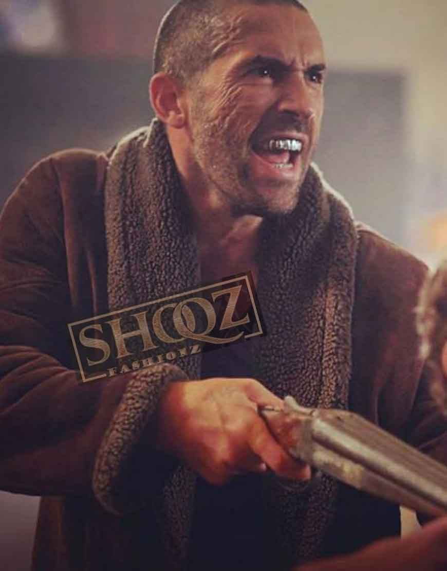 Avengement Scott Adkins (Cain Burgess) Shearling Jacket