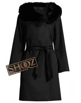Batwoman Mary Hamilton Black Fur Coat