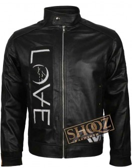 Men's Ava Love Tom Delonge Motorcycle Leather Jacket