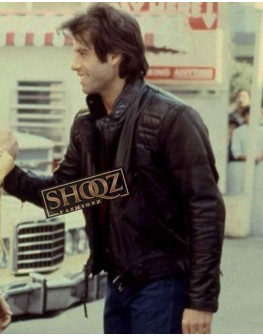 Stayin' Alive John Travolta Black Leather Jacket