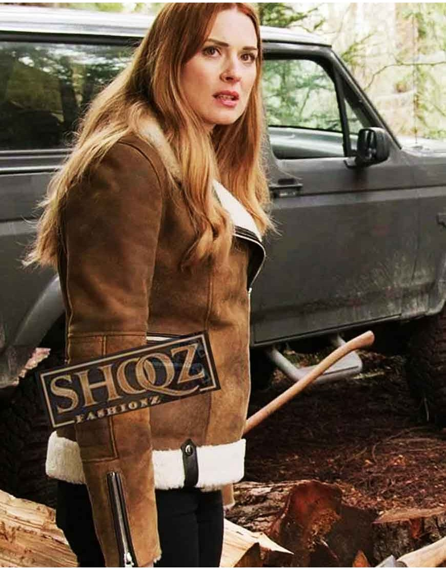 Alexandra Breckenridge Virgin River Malinda Monroe Shearling Jacket