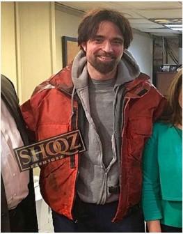 Robert Pattinson Good Time Connie Nikas Red Jacket