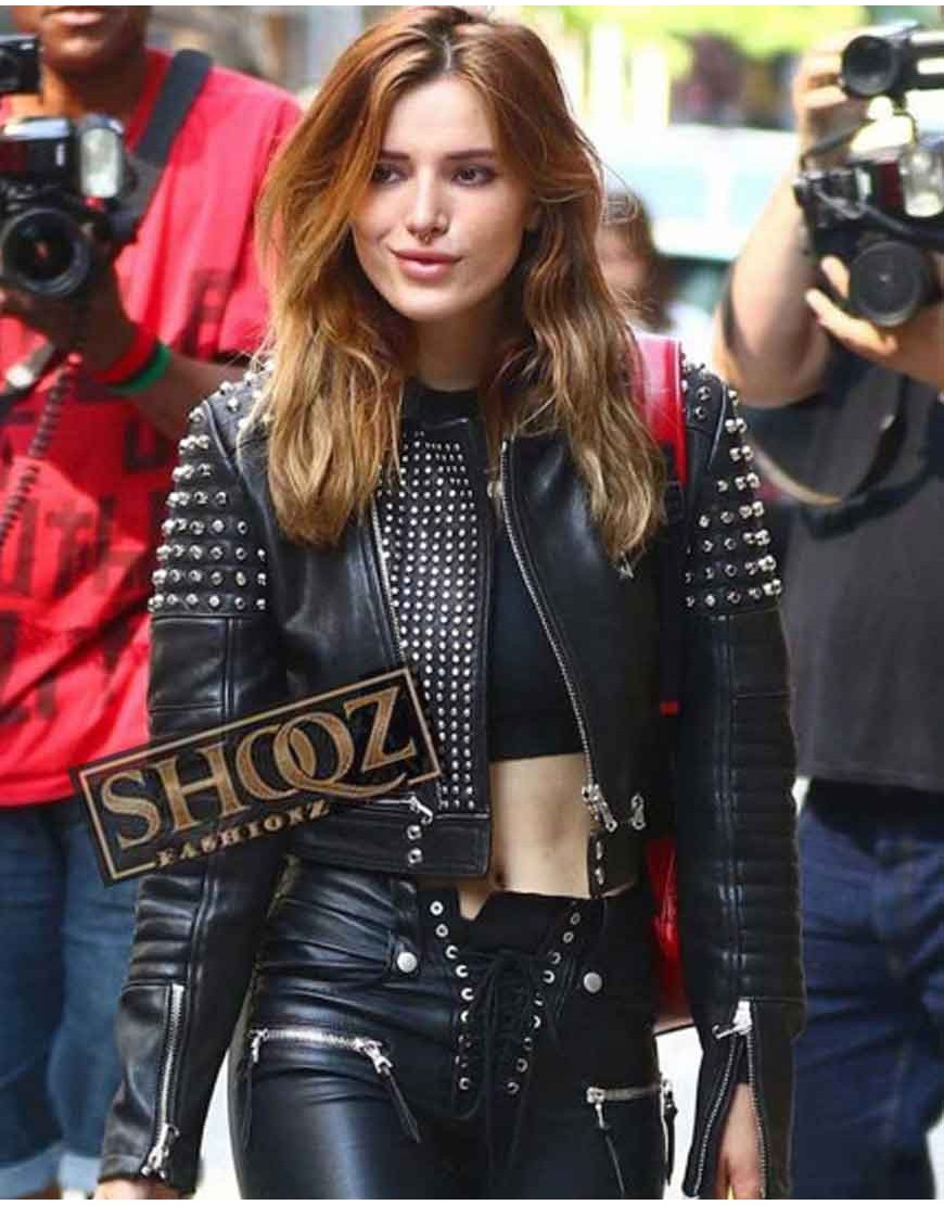Bella Throne Ride Jessica Black Leather Jacket