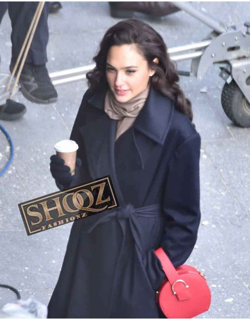 Gal Gadot Wonder Women Diana Prince Black Coat