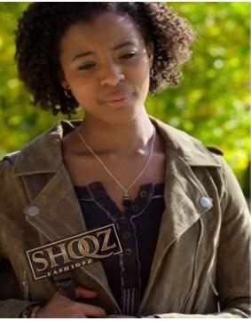 13 Reasons Why Ani Achola (Grace Saif) Suede Jacket