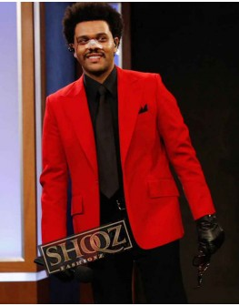 Blinding Lights The Weeknd Red Blazer