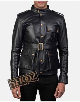 Men's Germain Black Leather Jacket